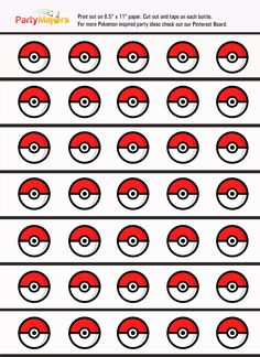Has the Pokemon Craze hit your house yet? It sure has reached us. Here is a quick and easy printable for your next Pokemon party. Print,cut, tape to drink bottles. Click on the images below…