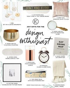 The Everygirl 2017 Holiday Gift Guide for the Design Enthusiast