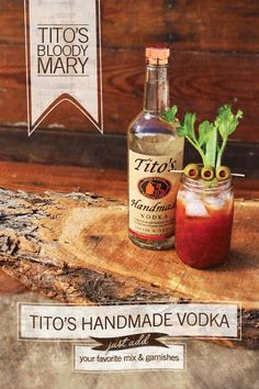 How do you construct your Tito's Handmade Vodka bloody mary?