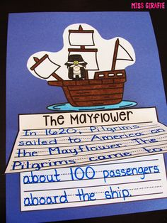 Easy and fun writing activities for learning about The Mayflower, pilgrims, Thanksgiving, and more for kindergarten and first grade