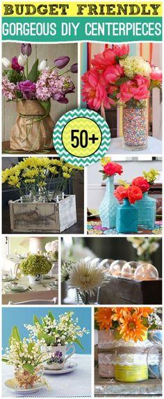 50+ DIY Beautiful and Creative Centerpieces - DIY & Crafts For Moms #diy