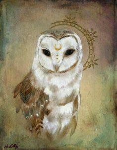 "'I heard the White Owl call my name.' ~ ""Celestial Owl"" oil painting by patriciabirkholz Lechuza Tattoo, Wise Owl, Owl Art, Spirit Animal, Framed Art Prints, Fantasy Art, Art Photography, Street Art, Illustration Art"