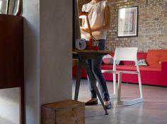 Vitra Polder Sofa + Tip Ton Chair + Compass Desk Prouvé