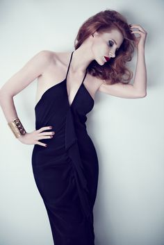 Jessica Chastain for Yves Saint Laurent by Max Vadukul