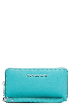 MICHAEL Michael Kors Jet Set Saffiano Leather Phone Wristlet available at #Nordstrom