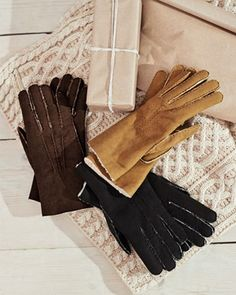 Add these hand-stitched, fleecy gloves to your chilly-weather rotation to ward off biting winds. Haute Marne, Sheepskin Gloves, Cream Coat, Very Cold, Cashmere Jumper, Chilly Weather, Dog Walking, Hand Warmers, Hand Stitching