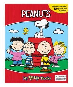 Look what I found on #zulily! Peanuts My Busy Books Board Book & Figurine Set #zulilyfinds