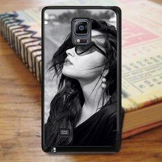 Demi Lovato Black And White Samsung Galaxy Note Edge Case