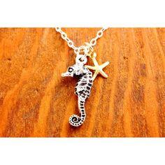 Seahorse Necklace - starfish necklace, sea horse n ($28.00)
