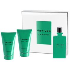 Carven Vetiver Eau de Toilette Gift Set ($112) ❤ liked on Polyvore featuring beauty products, gift sets & kits, apparel & accessories and multicolored