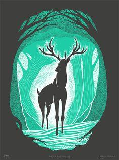 Deer of Mirkwood Black Hart by Alex Pearson