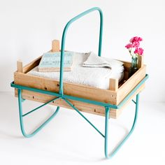 In the sixties, these crates were used when harvesting asparagus. However, these are nowhere to be found anymore. What a waste! Therefore we have revived this unique and joyful design and have given it a new life as a real eye-catcher for your home.  - Side table, mint, turquoise, recycled, coffee table, unique designer furniture, home design - a unique product by I-am-Recycled via en.dawanda.com