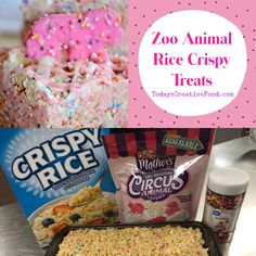 Simple to make zoo animal circus cookies rice crispy treats. Get the full recipe at today's creative food blog
