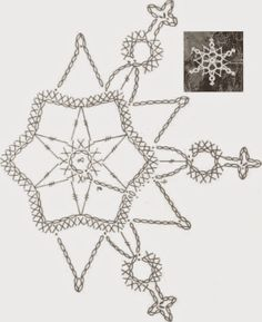 Crochet ideas that you'll love Crochet Snowflake Pattern, Christmas Crochet Patterns, Crochet Snowflakes, Christmas Snowflakes, Christmas Knitting, Crochet Christmas Decorations, Crochet Decoration, Crochet Ornaments, Diy Christmas Ornaments