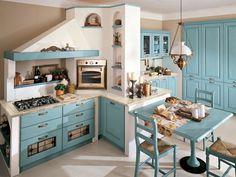diseño de cocina rustica