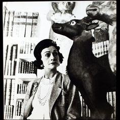 Chanel 1960 | Coco Chanel aux biches, portrait de Roger-Viollet, circa 1960 ...