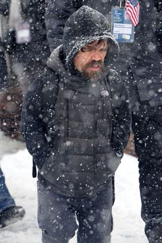 Peter Dinklage wears a Game of Thrones backpack as he promote his film 'Rememory' At Sundance. The Game of Thrones actor was seen promoting his film in snowy Park City, Utah!