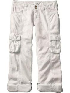 Super comfy linen cargo pants from Old Navy.  Have black & khaki, waiting on my white ones to arrive.