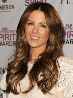 Kate Beckinsale's subtle brown and blond for those ladies who don't do ombré. I clearly have a hair appt coming up.