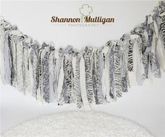 Inspiration For New Born Baby Photography : Fabric Garland  DIY Photo Props  Shannon Mulligan Photography