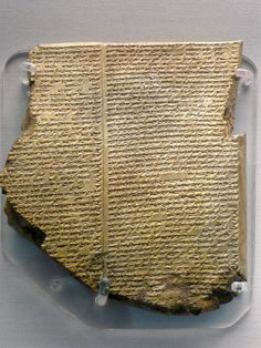 The Flood Tablet, relating part of the Epic of Gilgamesh, From Nineveh, northern Iraq, Neo-Assyrian, 7th century BC. British Museum.