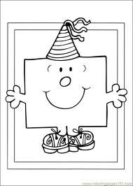 printable Mr Men colouring pages - kidzworld via Google Search. Great as Mr Men party bag favor fillers just add a pack of mini crayons !