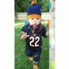 Football ready!! Infinity scarf & Beanie from Olive Branch Creations! Head over to grab your #NFL team gear for your little one!