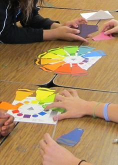A New Way to Introduce the Color Wheel. Sentence Starters and Activities to make Vocabulary more fun!