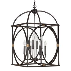 Featuring a painted surry finish that will complement many traditional decors, this elegant 8-light foyer pendant is an ideal addition to your home or patio. The metal work frame on the sides will add interest to any setting.