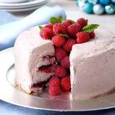 Chocolate Raspberry Angel Food Torte