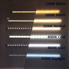 From warm to cool LED lighting and Kelvin ratings.- From warm to cool LED lighting and Kelvin ratings. From warm to cool LED lighting and Kelvin ratings. Cove Lighting, Stair Lighting, Interior Lighting, Lighting Ideas, Recessed Lighting Layout, Hidden Lighting, Led Under Cabinet Lighting, Indirect Lighting, Lighting Concepts