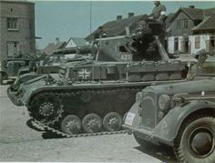 Further views of the PzKpfw IVs of 65th PanzerBattalion in May 1941. The division had only threecompanies of these heavy support tanks at th...