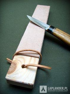 Skórzany dwustronny pas z z grubej skóry bydlęcej, przeznaczony do finalnego ostrzenia i polerowania noży, brzytew i innych ostrzy np. nożyczek. Idealny do utrzymania noża w maksymalnej ostrości.