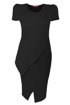 Izzy Cap Sleeve Asymmetric Hem Midi Dress alternative image
