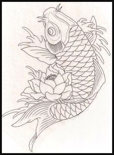 Koi fish with lotus need as part of the other tattoo! Fish red and orange for love of Kelli and my hubby! And the koi going upstream for over coming obstacles in life and love and the lotus flower for strength Japanese Koi Fish Tattoo, Koi Fish Drawing, Fish Drawings, Tattoo Drawings, Art Drawings, Owl Tattoos, Sleeve Tattoos, Coy Fish Tattoos, Space Tattoos