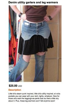 This is not a way to refashion jeans. Not not not. Ridiculous!