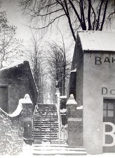 Church Steps, Downham Market, Norfolk during winter 1939-40. Where the Dalston County Secondary Grammar School for Girls, Hackney, LOndon were evacuated in WW2.
