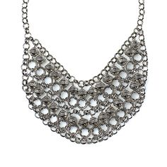 """-CLEOPATRA- """"An exotic draping of hoops and beads framed in an antique silver chain makes this a dramatic statement necklace sure to catch compliments.""""  http://LMAWBY.MIALISIA.COM"""