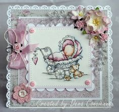 Dena's Stamping Corner: Babies, babies! Such a sweet LOTV babies card by Dena.