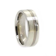 9023c val 9ct and 18ct White Gold and Diamond Mens Wedding Ring