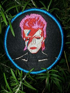 David Bowie, Aladdin Sane, Round Patch by HourGlassSewing on Etsy This is a custom order.  If you have something special, in mind, contact me via Etsy.  We can make it happen :)