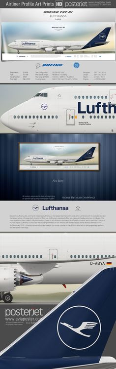Boeing 747-8i Lufthansa Registration: D-ABYA Type: 747-830 Engines: 4 × GE GEnx-2B67 Serial Number: 37827 First flight: Fab 8, 2012 www.aviaposter.com | #aviation #jetliner #airplane #pilot #aviationlovers #avgeek #jet #airport #pilotlife #cabincrew Civil Aviation, Aviation Art, Boeing 777 300, Atr 72, Passenger Aircraft, Cargo Airlines, Commercial Aircraft, Air France, Aircraft Carrier