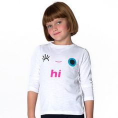 White Hi/Bye Wink Tee #tweenfashion #littlemissmatched