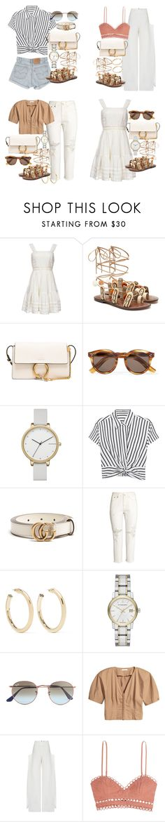 """""""how to style sam edelman sandals"""" by florencia95 ❤ liked on Polyvore featuring Candela, Sam Edelman, Chloé, Illesteva, Skagen, T By Alexander Wang, Levi's, Gucci, H&M and Kenneth Jay Lane"""