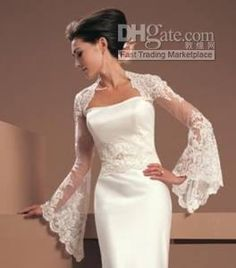 Wholesale Custom Made Wedding Bridal Bolero Shrug Jacket Wedding Dress Gown