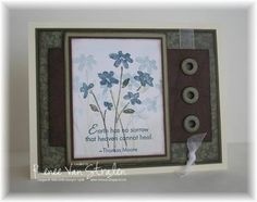 Sympathy using Stampin Up Close as a Memory