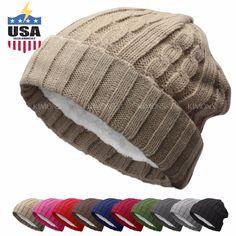 BN Knit Slouchy Baggy Beanie Winter Hat Ski Slouchy Cap Skull Men Women  Cuff  6.99 End 9b1cb2494396