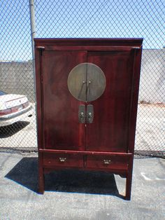 Chinese Wedding Cabinet Armoire Media Cabinet Los Angeles by housecandyla, $699.00