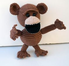 mad monkey free crochet pattern by Tigerfrogg