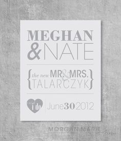 Personalized Wedding Print by MorganMarieMakes on Etsy